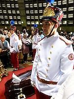 RIO DE JANEIRO 10 DE JULHO 2012 - VELORIO DO CARDEAL DON EUGENIO SALES, ARCEBISPO EMERITO DO RIO DE JANEIRO.<br /> Nesta terça feira (10), foi realizado o cortejo da chegada do corpo e velório do Cardela Don Eugenio Sales, Arcepispo Emérito da Arquidiocese do Rio de janeiro-RJ.<br /> O velório esta acontecendo na Catedral sao