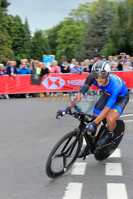 Khaled Alkhalaifah (KUW) in action during the Men Elite Individual Time Trial of the UCI World Championships 2019 running 54km from Northallerton to Harrogate, England. 25th September 2019.<br /> Picture: Andy Brady | Cyclefile<br /> <br /> All photos usage must carry mandatory copyright credit (© Cyclefile | Andy Brady)