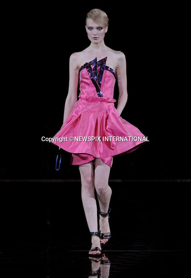 "EMPORIO ARMANI.Women's Wear Spring/Summer 2010 Collection, Milan Fashion Week, Milano_28/09/2009.Mandatory Credit Photo: ©NEWSPIX INTERNATIONAL..**ALL FEES PAYABLE TO: ""NEWSPIX INTERNATIONAL""**..IMMEDIATE CONFIRMATION OF USAGE REQUIRED:.Newspix International, 31 Chinnery Hill, Bishop's Stortford, ENGLAND CM23 3PS.Tel:+441279 324672  ; Fax: +441279656877.Mobile:  07775681153.e-mail: info@newspixinternational.co.uk"