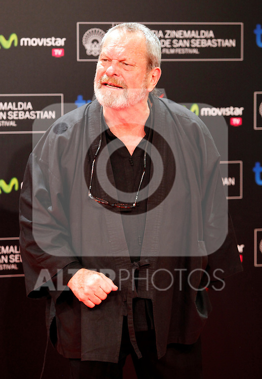 Terry Gilliam posses in the photocall of the 61 San Sebastian Film Festival, in San Sebastian, Spain. September 20, 2013. (ALTERPHOTOS/Victor Blanco)