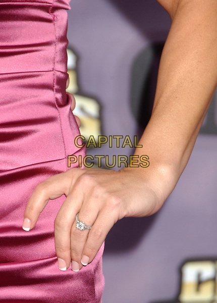 SARA EVANS .2008 CMT Music Awards held at Curb Events Center at Belmont University, Nashville, Tennessee, USA, .14 April 2008..hand detail diamond engagement ring close up .CAP/ADM/LF.©Laura Farr/Admedia/Capital PIctures