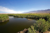 Owens Valley River along the base of the Eastern Sierra Nevadas, CA.