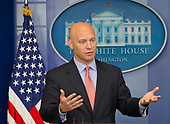 White House Director of Legislative Affairs Marc Short discusses the Administration's charges that United States Senate Democrats have delayed crucial Trump appointee's confirmations in the Brady Press Briefing Room at the White House in Washington, DC on Monday, July 10, 2017.<br /> Credit: Ron Sachs / CNP