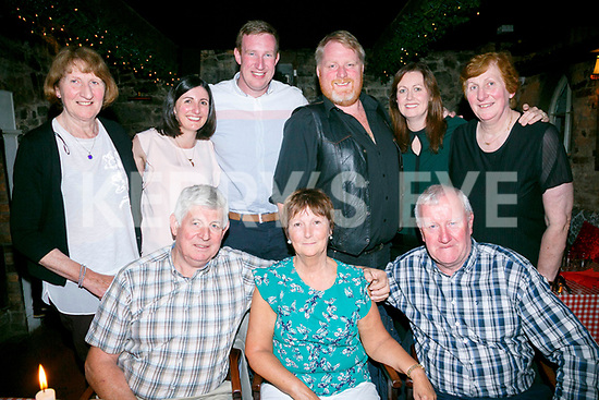 Marion Bowler, Ballymac Tralee celebrating her Birthday with family at Finnegans on Sunday Front James Bowler, Marion Bowler, Jim Phelan Back l-r Theresa Phelan, Caitriona McQuade,  Jim Phelan. Jr.,PJ O'Mahony, Caroline O'Mahony, Breda McQuade