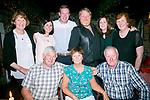 Marion Bowler, Ballymac Tralee celebrating her Birthday with family at Finnegans on Sunday Front James Bowler, Marion Bowler, Jim Phelan Back l-r Theresa Phelan, Caitriona McQuade,  Jim Phelan. Jr.,PJ O'Mahony, Caroline O'Mahony, Breda McQuade