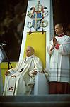 Pope John Paul II 1982 UK. Popes papal visit to Wembley Stadium London England 1980s