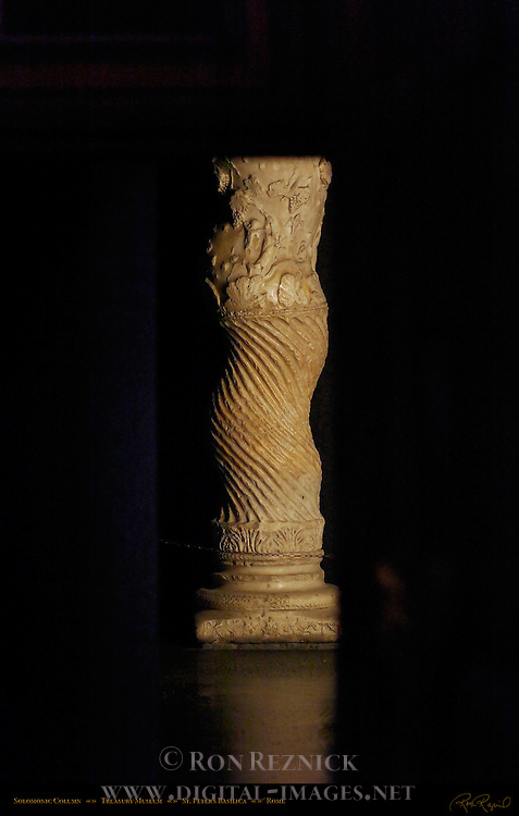Solomonic Column 2nd c Greek Marble Constantine Treasury Museum St Peter's Basilica Rome