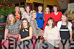 CELEBRATIONS: The Foley Reeks, Spa Shops, Miltown and Tralee had their staff Christmas party in the Grand Hotel, Tralee on Saturday night, Front l-r: Teresa Delaney, Mary Riordan, Rachel Lynch, Luda Belyakov and Hannah Langham. Back l-r: Michelle Lynch, Pauline Dennehy, Marie Nix, Elaine Foley, Catherine Foley.............