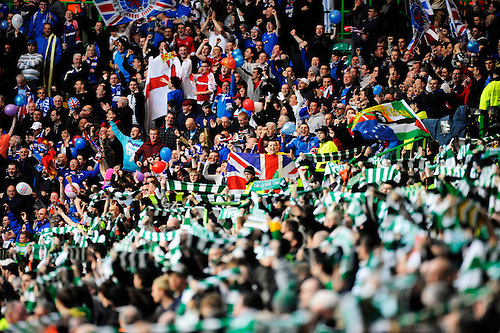 4TH MAY 2010, Celtic v Rangers, SPL match at Celtic Park, Glasgow, Celtic and Rangers fans pre match, Rob Casey Photography.