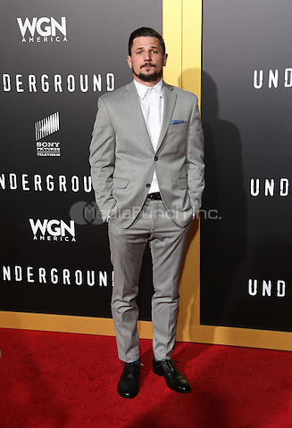 "WESTWOOD, CA - February 28: Michael Trotter, At Premiere Of WGN America's ""Underground"" Season 2, At The Regency Village Theatre In California on February 28, 2017. Credit: Faye Sadou/MediaPunch"