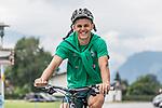 09.07.2019, Parkstadion, Zell am Ziller, AUT, TL Werder Bremen Zell am Ziller / Zillertal Tag 05<br /> <br /> im Bild<br /> Milot Rashica (Werder Bremen #07) auf Mountainbike nach Trainingsende, <br /> <br /> Foto © nordphoto / Ewert