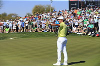 Bryson DeChambeau (USA) putts on the 5th green during Saturday's Round 3 of the Waste Management Phoenix Open 2018 held on the TPC Scottsdale Stadium Course, Scottsdale, Arizona, USA. 3rd February 2018.<br /> Picture: Eoin Clarke | Golffile<br /> <br /> <br /> All photos usage must carry mandatory copyright credit (&copy; Golffile | Eoin Clarke)