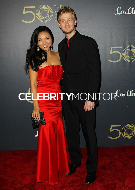 LOS ANGELES, CA, USA - DECEMBER 06: Jennifer Paz, Anthony Fedorov arrive at The Music Center's 50th Anniversary Spectacular held at The Music Center - Dorothy Chandler Pavilion on December 6, 2014 in Los Angeles, California, United States. (Photo by Celebrity Monitor)
