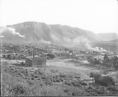 Durango from ENE.  American Smelter in background.  School building in foreground.<br /> Durango, CO  Taken by Beam, George L. - ca 1909