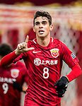 Oscar dos Santos Emboaba Junior of Shanghai SIPG FC celebrates during their AFC Champions League 2017 Playoff Stage match between Shanghai SIPG FC (CHN) and Sukhothai FC (THA) at the Shanghai Stadium, on 07 February 2017 in Shanghai, China. Photo by Marcio Rodrigo Machado / Power Sport Images
