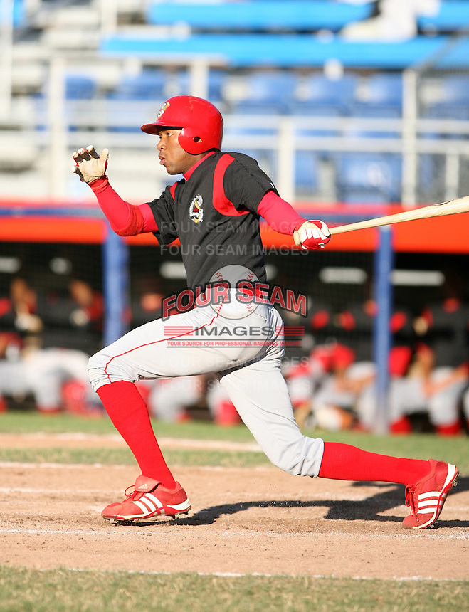 2007:  D'Arby Myers of the Williamsport Crosscutters, Class-A affiliate of the Philadelphia Phillies, during the New York-Penn League baseball season.  Photo By Mike Janes/Four Seam Images