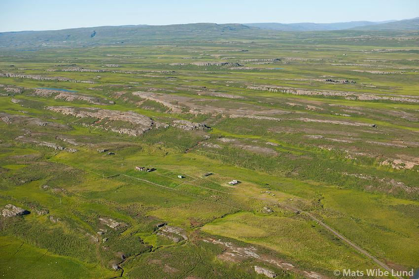 Fremri-Galtastaðir séð til suðvesturs, Fljótsdalshérað áðurTunguhreppur /  Fremri-Galtastadir viewing southwest, Fljotsdalsherad former Tungurheppur