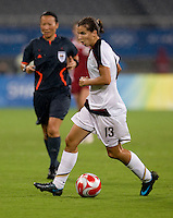 Tobin Heath. The USWNT defeated Canada in extra time, 2-1, during the 2008 Beijing Olympics in Shanghai, China.