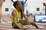 COLLEGE STATION, TX - MARCH 11: Raevyn Rogers of Oregon reacts after her win in the 800 meter run during the Division I Men's and Women's Indoor Track & Field Championship held at the Gilliam Indoor Track Stadium on the Texas A&M University campus on March 11, 2017 in College Station, Texas. (Photo by Michael Starghill/NCAA Photos/NCAA Photos via Getty Images)