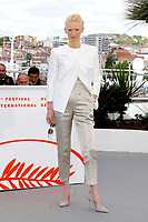 Tilda Swinton at the 'The Dead Don't Die' photocall during the 72nd Cannes Film Festival at the Palais des Festivals on May 15, 2019 in Cannes, France