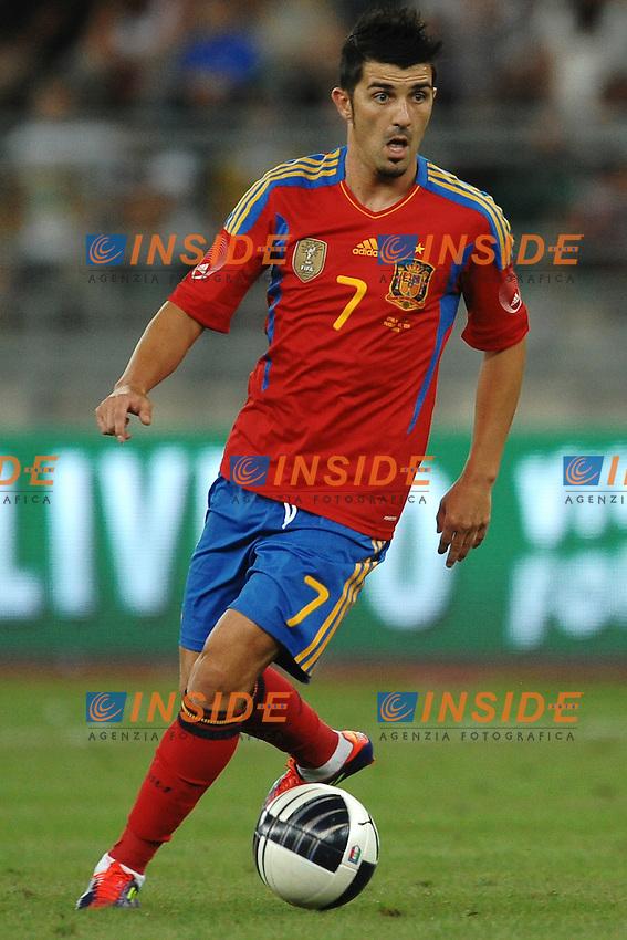 "David VILLA Spain..BAri 10/8/2011 Stadio ""San Nicola""..Football / Calcio Friendly Match..Italia Vs Spagna / Italy Vs Spain..Foto Insidefoto Andrea Staccioli"
