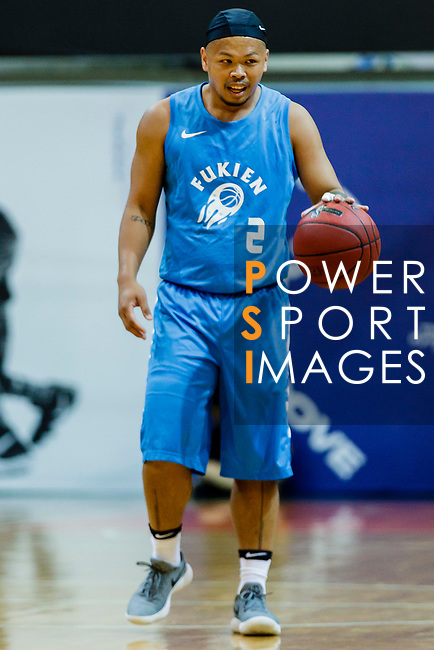 Lam Chi Lok #2 of Fukien Basketball Team dribbles the ball up court during the Hong Kong Basketball League game between Winling and Fukien at Southorn Stadium on May 29, 2018 in Hong Kong. Photo by Yu Chun Christopher Wong / Power Sport Images
