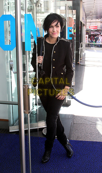 SHARLEEN SPITERI .The First Light Film Awards held at the Odeon Leicester Square, London, England, UK, March 2nd 2010.full length black jacket jeans boots military .CAP/ROS.©Steve Ross/Capital Pictures.