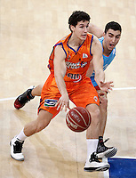 Valencia Basket Club's Rodrigo San Miguel (l) and Asefa Estudiantes' Jaime Fernandez during Spanish Basketball King's Cup match.February 07,2013. (ALTERPHOTOS/Acero) /NortePhoto