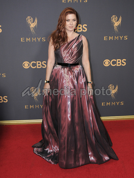 17 September  2017 - Los Angeles, California - Debra Messing. 69th Annual Primetime Emmy Awards - Arrivals held at Microsoft Theater in Los Angeles. Photo Credit: Birdie Thompson/AdMedia