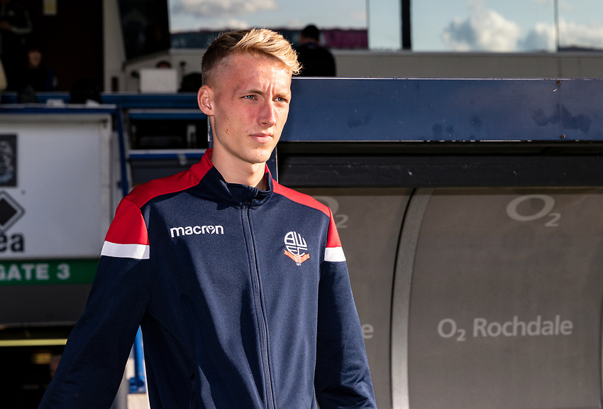 Bolton Wanderers' James Weir goes out to inspect the pitch before the match<br /> <br /> Photographer Andrew Kearns/CameraSport<br /> <br /> The Carabao Cup First Round - Rochdale v Bolton Wanderers - Tuesday 13th August 2019 - Spotland Stadium - Rochdale<br />  <br /> World Copyright © 2019 CameraSport. All rights reserved. 43 Linden Ave. Countesthorpe. Leicester. England. LE8 5PG - Tel: +44 (0) 116 277 4147 - admin@camerasport.com - www.camerasport.com
