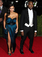 "NEW YORK CITY, NY, USA - MAY 05: Kim Kardashian, Kanye West at the ""Charles James: Beyond Fashion"" Costume Institute Gala held at the Metropolitan Museum of Art on May 5, 2014 in New York City, New York, United States. (Photo by Xavier Collin/Celebrity Monitor)"