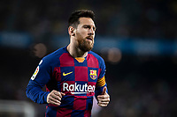 29th October 2019; Camp Nou, Barcelona, Catalonia, Spain; La Liga Football, Barcelona versus Real Valladolid; 10 Lionel Messi moves forward into attack during La Liga match against Valladolid - Editorial Use