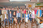 RETIREMENT: Michael Quirke, Castleisland (seated 4th left) who retired from the ESB after 43 years service celebrating with family and friends at O'Riada's restaurant and bar, Ballymac on Friday.