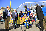 Frederick Veuchelen (BEL) Wanty-Groupe Gobert at sign on for the 115th edition of the Paris-Roubaix 2017 race running 257km Compiegne to Roubaix, France. 9th April 2017.<br /> Picture: Eoin Clarke | Cyclefile<br /> <br /> <br /> All photos usage must carry mandatory copyright credit (&copy; Cyclefile | Eoin Clarke)