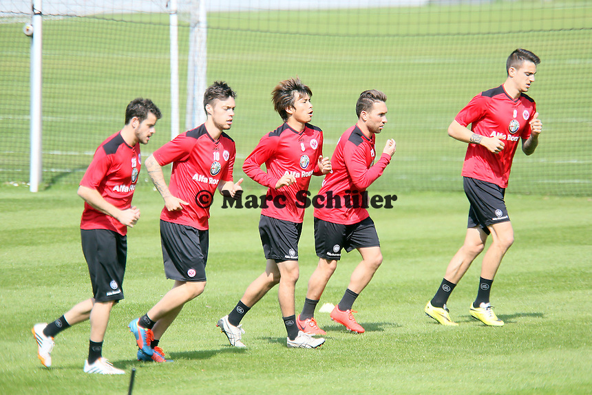 Tranquillo Barnetta, Vaclav Kadlec, Takashi Inui, Tobias Weis, Joselu - Eintracht Frankfurt Training