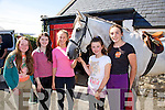 Sadhbh Carmody, Ciara Kelleher, Louise McGowan, Corinna O'Halloran, Caoimhe Hanafin and Monty the horse enjoying the Spa/Churchill Fenit Annual Heritage Weekend at the Forge Churchill on Saturday