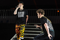 SAN JOSE, CA - DECEMBER 1: Jack Avery and Zach Herron of Why Don't We perform onstage at The SAP Center during the 99.7 Now POPTOPIA in San Jose, California. <br /> CAP/MPI/IS/CT<br /> &copy;CT/IS/MPI/Capital Pictures