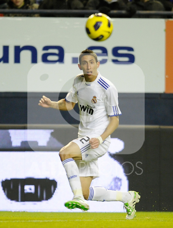 Spanish league match Osasuna vs Real Madrid. Angel Di MAria...Photo : Ricardo Ordonez / ALFAQUI.