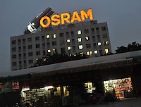 The Osram factory in Foshan, Guangdong Province, China. Osram makes light-bulbs, including energy saving light-bulbs that use mercury as the active component..20 Apr 2009