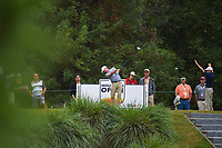 Ryan Brehm (USA) watches his tee shot on 10 during round 4 of the 2019 Houston Open, Golf Club of Houston, Houston, Texas, USA. 10/13/2019.<br /> Picture Ken Murray / Golffile.ie<br /> <br /> All photo usage must carry mandatory copyright credit (© Golffile | Ken Murray)