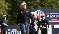Ian Poulter (ENG) received heart-felt thanks for reviving the British Masters 2015 supported by SkySports played on the Marquess Course at Woburn Golf Club, Little Brickhill, Milton Keynes, England.  11/10/2015. Picture: Golffile | David Lloyd<br /> <br /> All photos usage must carry mandatory copyright credit (© Golffile | David Lloyd)