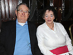 Jim Nulty and May Fay pictured at the Ferdia Social club annual christmas party in the Hunterstown Inn. Photo: Colin Bell/pressphotos.ie