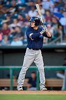 Mobile BayBears designated hitter Hutton Moyer (11) at bat during a game against the Jacksonville Jumbo Shrimp on April 14, 2018 at Baseball Grounds of Jacksonville in Jacksonville, Florida.  Mobile defeated Jacksonville 13-3.  (Mike Janes/Four Seam Images)