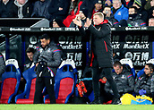 9th December 2017, Selhurst Park, London, England; EPL Premier League football, Crystal Palace versus Bournemouth; Bournemouth Manager Eddie Howe encourages his players