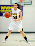 4 January 2010: University of Vermont Catamounts' guard/forward Kendra Seto, a Freshman from Oshawa, Ontario, in action against the University of Nebraska Cornhuskers at Patrick Gymnasium in Burlington, Vermont. The Huskers, finishing off their first perfect non-conference season in school history, improved to 13-0 with the 94-50 win over the Lady Cats. Mandatory Credit: Ed Wolfstein Photo