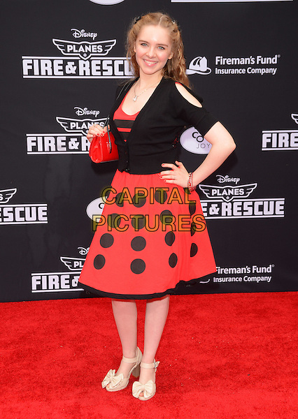 15 July 2014 - Hollywood, California - Darcy Rose Byrnes. Arrivals for the premiere of Disney's &quot;Planes: Fire and Rescue&quot; held at the El Capitan Theater in Hollywood, Ca. <br /> CAP/ADM/BT<br /> &copy;BT/ADM/Capital Pictures