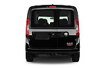 Straight rear view of 2017 Ram Promaster City SLT 5 Door Mini Mpv Rear View  stock images