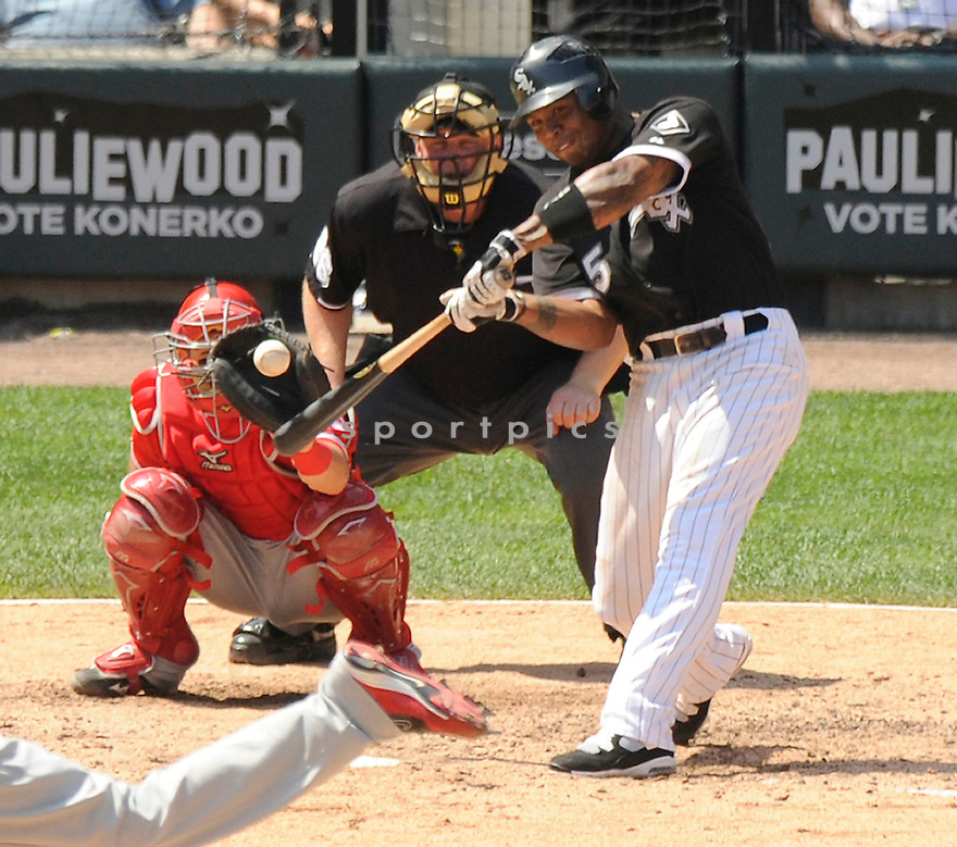 ANDRUW JONES,  of the Chicago White Sox ,  in action during the White Sox game against the Los Angeles Angels  in Chicago, IL on July 8, 2010. The Chicago White Sox beat the Los Angeles Angels  1-0..