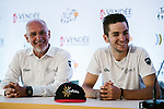 Cofidis team press conference before the 105th edition of the Tour de France 2018, held in Vend&eacute;space, La Roche-sur-Yon, France. 4th July 2018. <br /> Picture: ASO/Pauline Ballet   Cyclefile<br /> All photos usage must carry mandatory copyright credit (&copy; Cyclefile   ASO/Pauline Ballet)