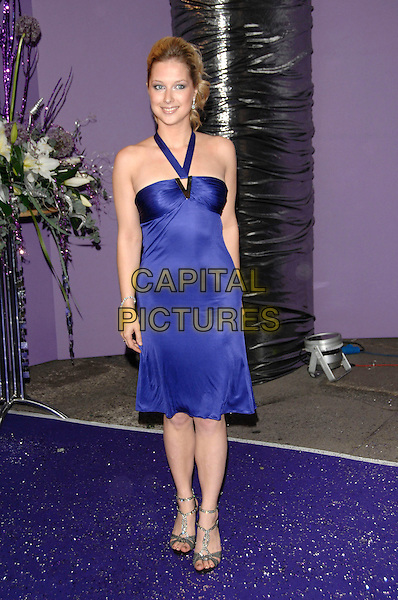 GEMMA BISSIX.Arrivals at the British Soap Awards 2007,.BBC Television Centre, London, England, .May 26, 2007..full length blue halterneck dress.CAP/PL.©Phil Loftus/Capital Pictures